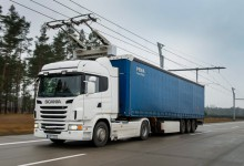 Automated electric truck highway