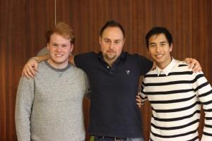 Från vänster: Tim Olsson, Johan Edlund, Joakim Johansson.