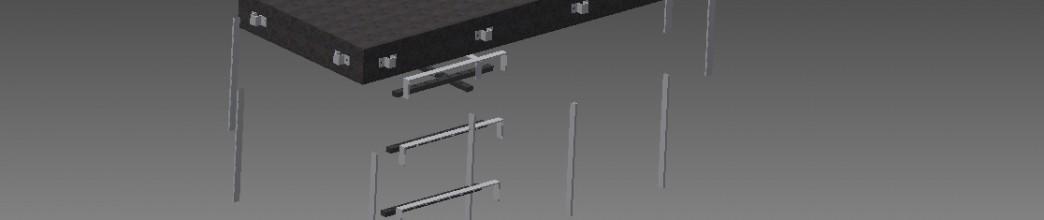 Balkong med pinnräcke
