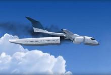 Flygplanskabin fallskärm