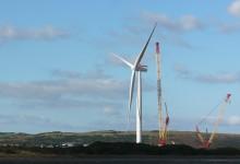 Vindkraftverk stora som fotbollsplaner
