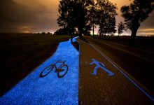 självlysande cykelvägar