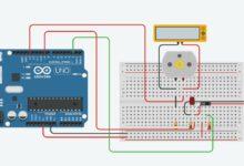 Simulering av Arduino koppling i Tinkercad Circutis