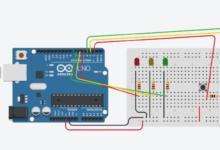 Arduino Uno Tinkercad circuit