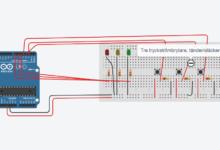 LED Dioder genom arduino på tryckknapp