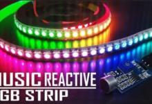 Audio reactive lights RBP (Visualizer) led strip